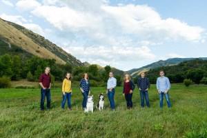 Epic mountain family portrait