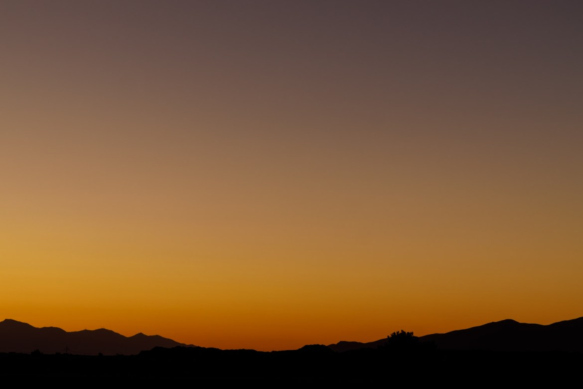 Scanning sunset for the comet