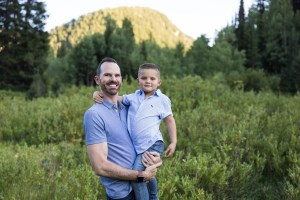 Daddy & son in the canyons
