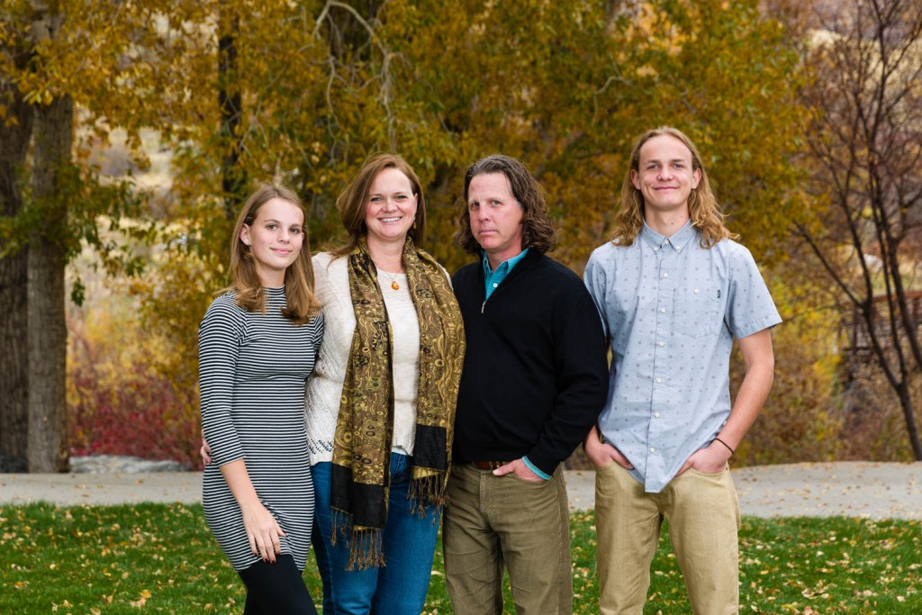 Hunter Family Portrait in Provo Canyon