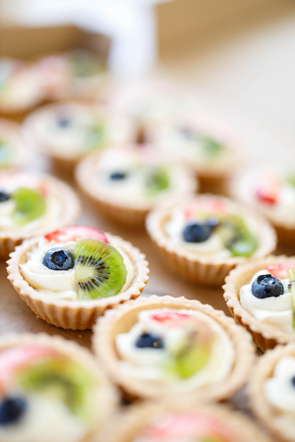 Fruit tarts for dessert
