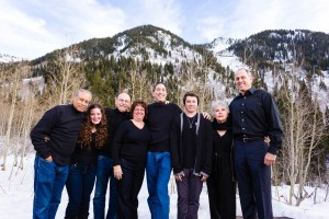 Family portraits in the mountains