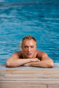Johnny in the pool
