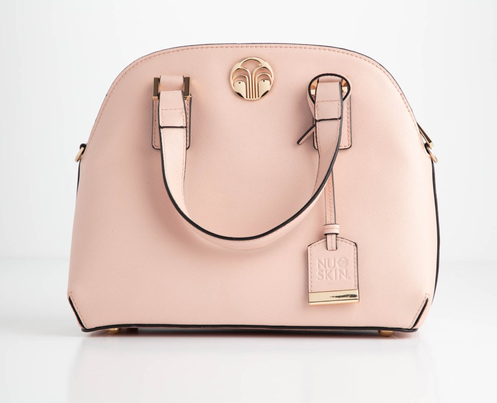 A purse on a white background