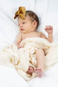 Baby Nora awake for her photos