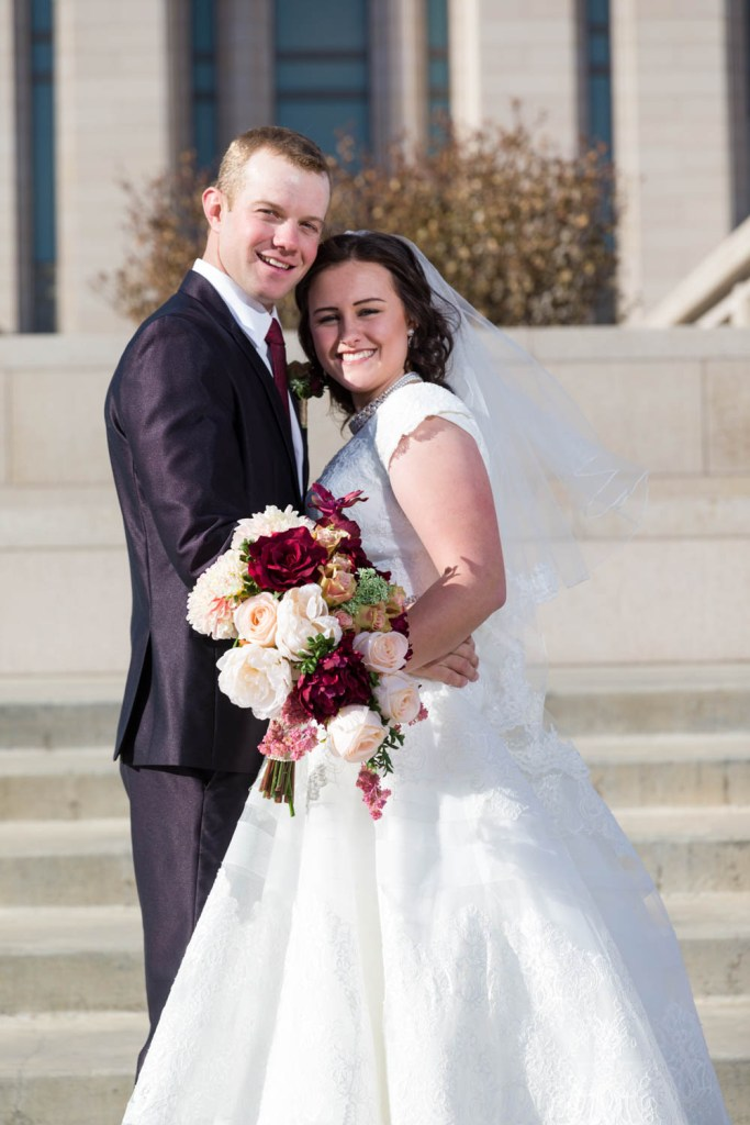Brielle & Spencer on their wedding day