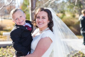 Bride and a nephew