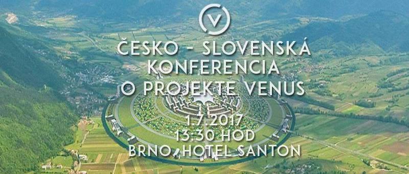 Pozvánka na 1. Česko-Slovenskú konferenciu o Projekte Venus 1. júla v Brne