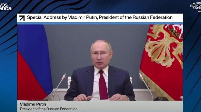 Vladimír Putin - Svetové ekonomické fórum, Davos 2021