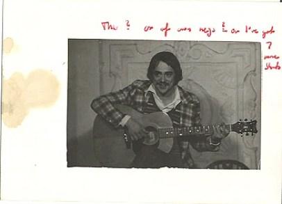 Dave Keir in Troubadour Coffee House, c. 1973