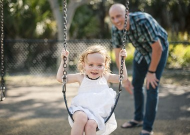 Me and beautiful Ellie playing at the park
