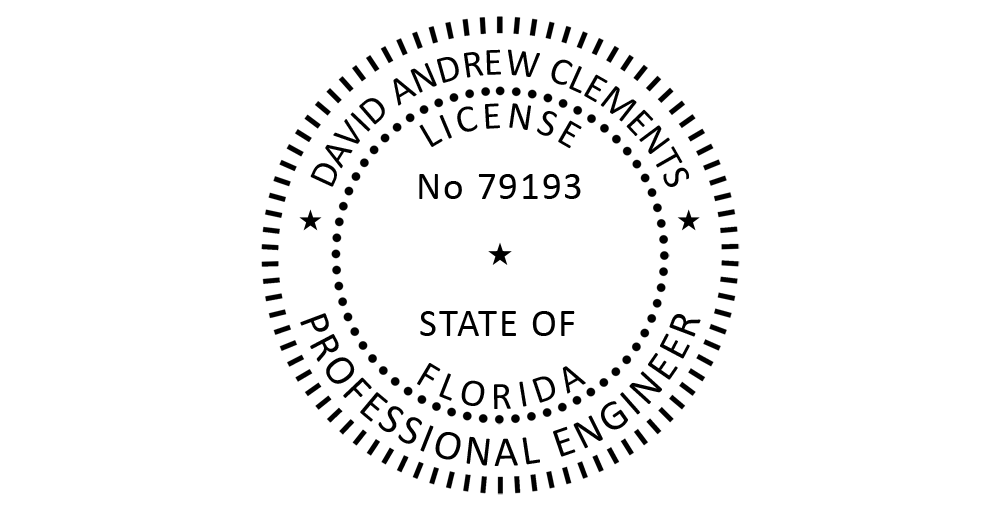 A Photoshop template for Florida PE seal