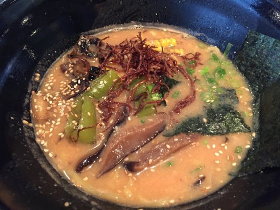 The veggie miso ramen bowl