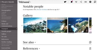 All main Wikipedia elements have been rethought, including galleries