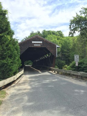 The covered bridge in Swiftwater, NH