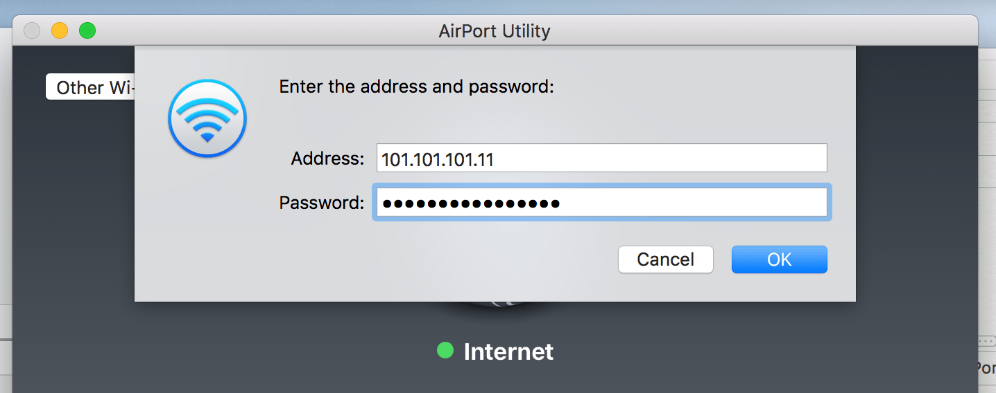 Airport Extreme hook up