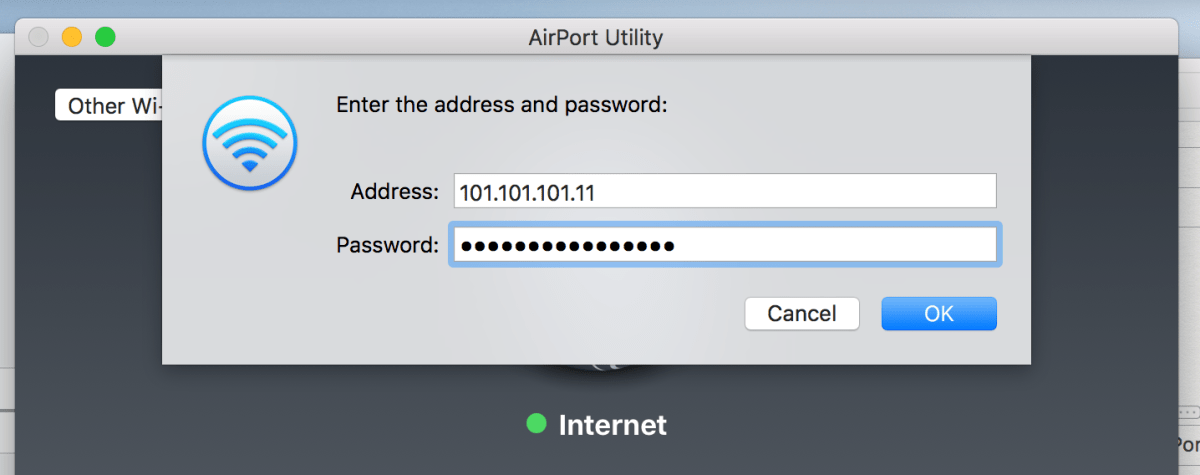 How to access Airport Utility remotely