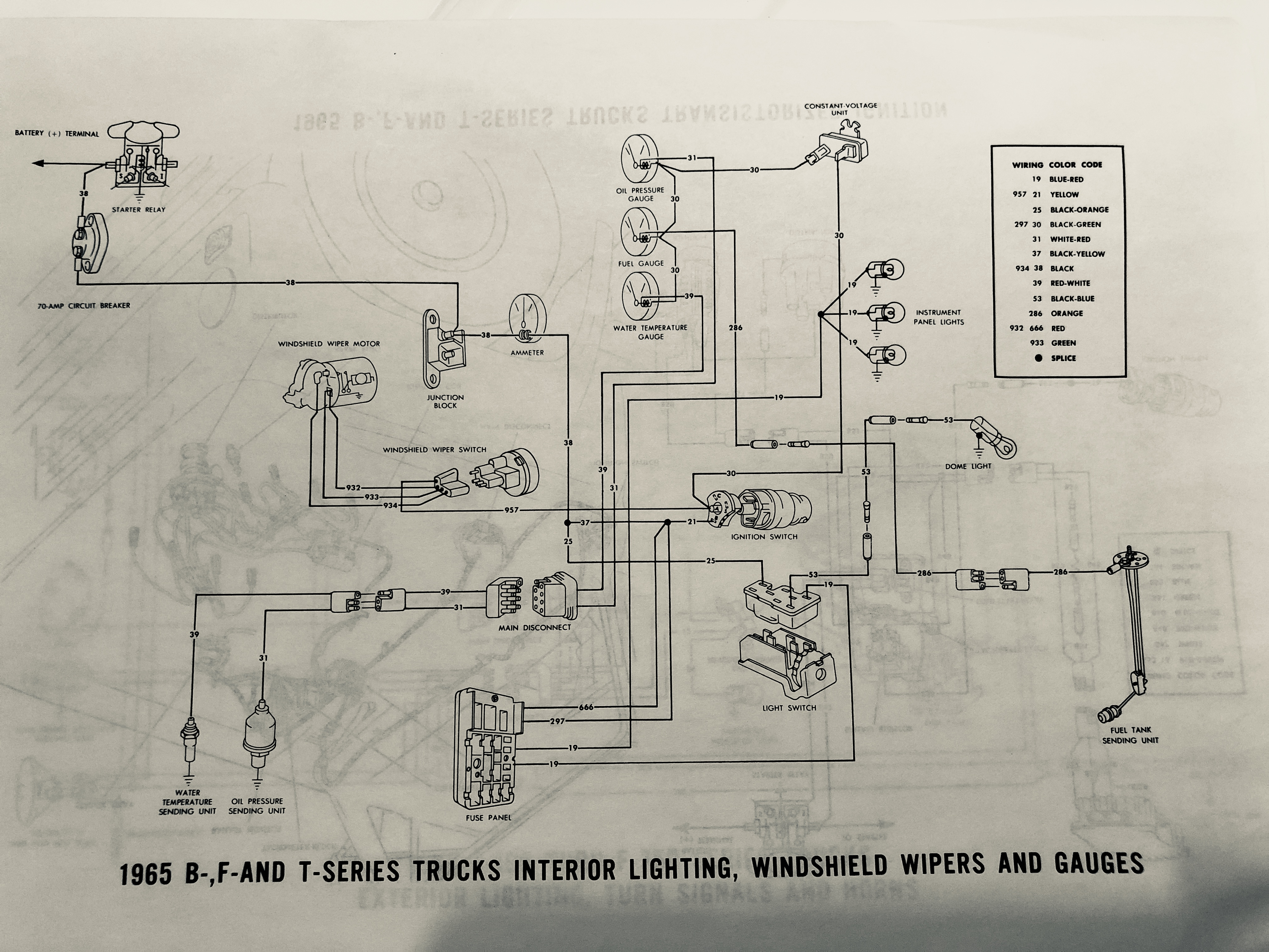 Exterior Lighting Turn Signals And Horn Schematic Diagrams Of 1964 Ford B F And T Series Trucks