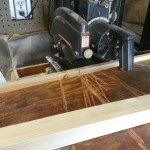 Cutting at the radial arm saw