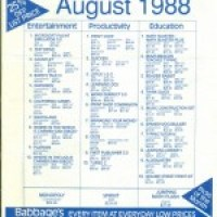 Babbage's flyer from 1988