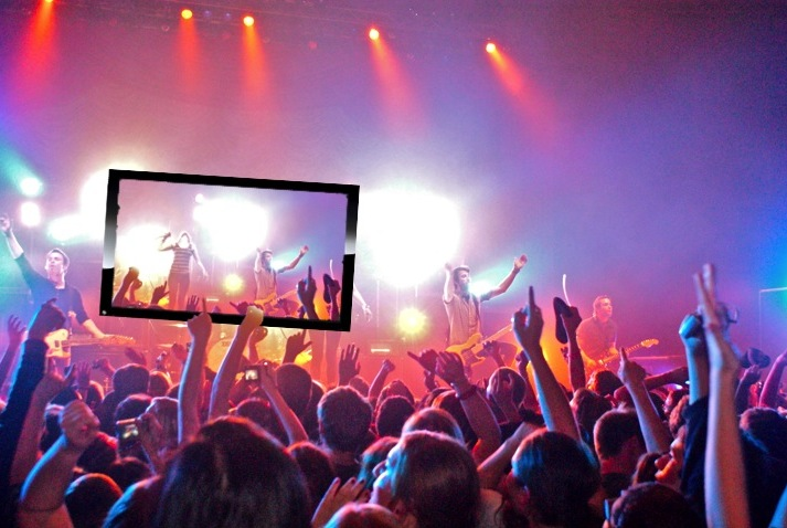Image result for audience holding up cell phones