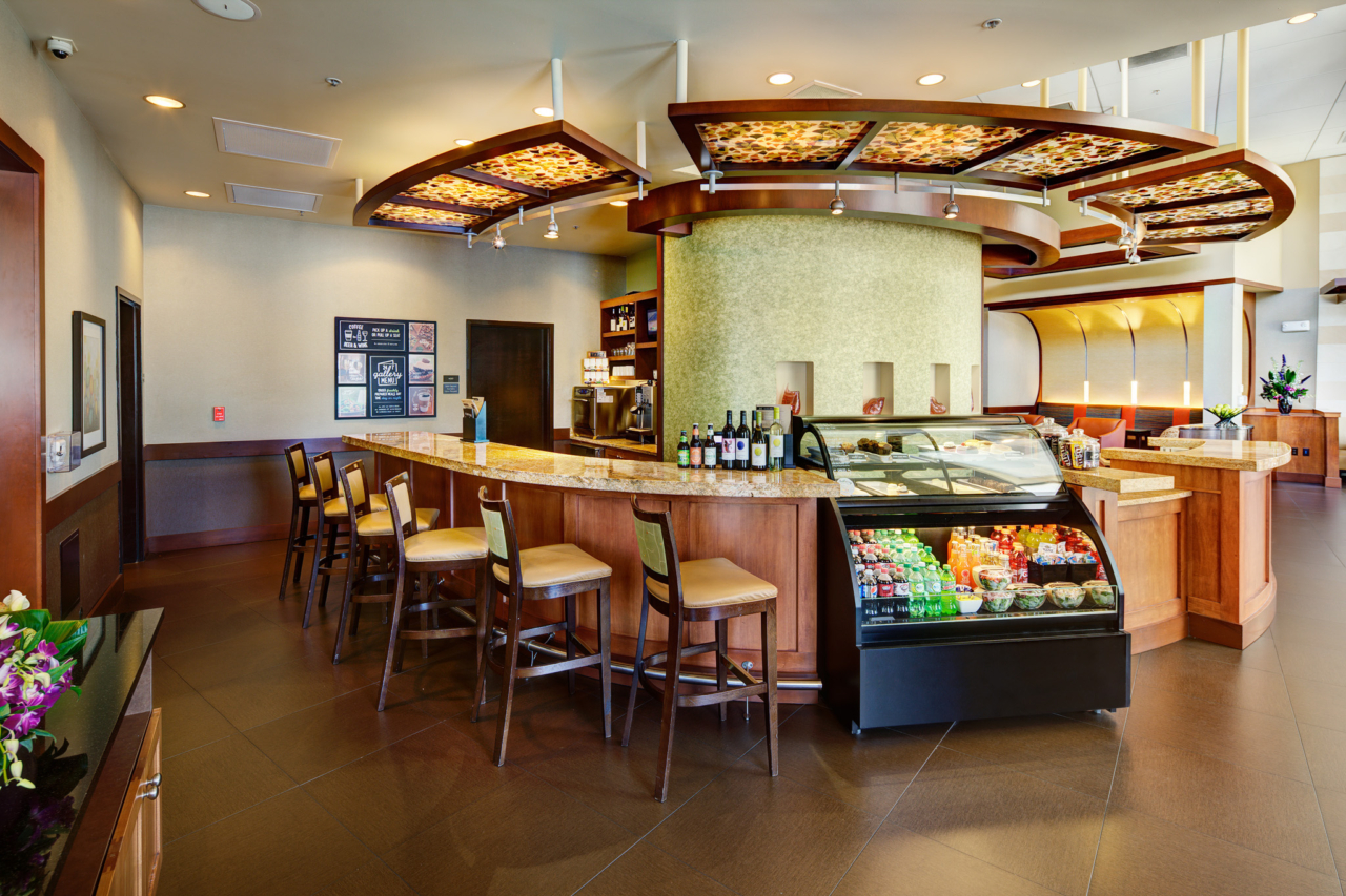 Interior Photography of the bar and snacks at Hyatt Place UC Davis