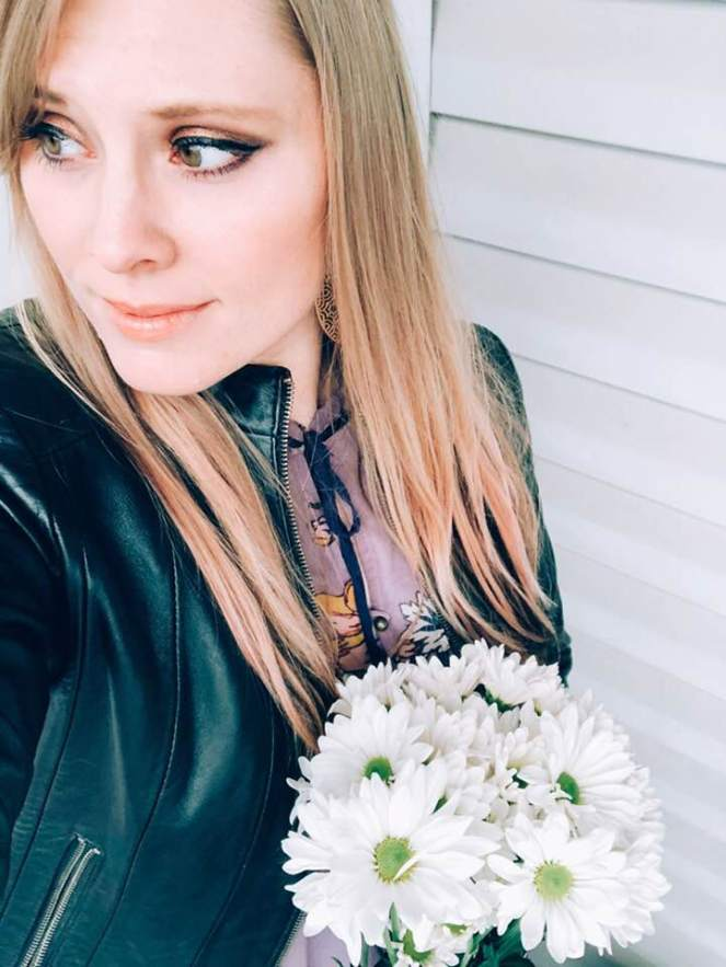 flowers and leather