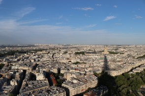 The shadow of the Eiffel Tower