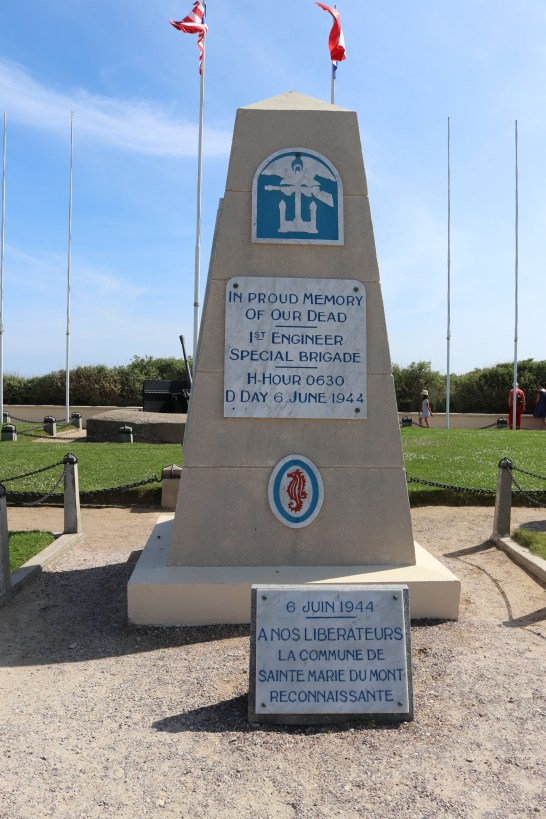 The 1st Engineer Special Brigade Monument.