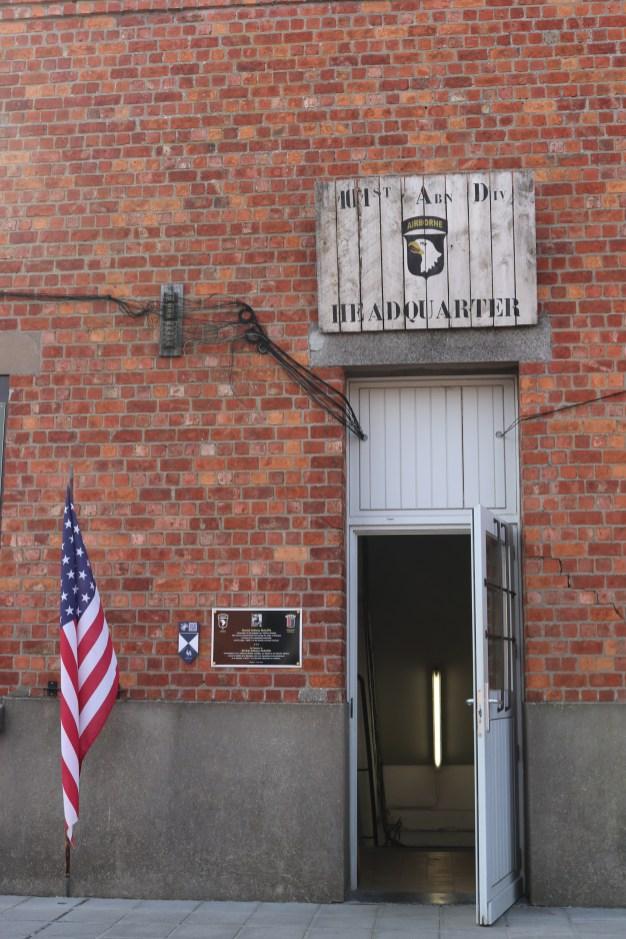 Entering the 101St Airborne Headquarters