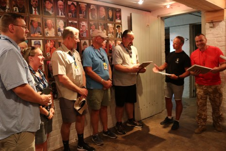 The veterans in our group were honored with a framed copy of the Christmas Letter!