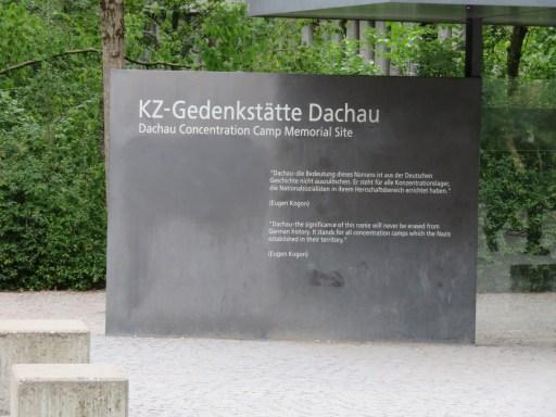 Entrance sign to Daschau