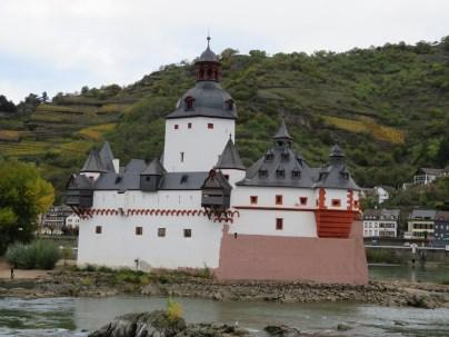 Pfalzgrafenstein Castle in Kaub, Germany