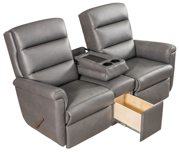 dual reclining rv sofa small foam bed furniture dave lj s elite theatre seat