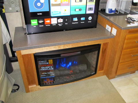 RV Electronic Fireplace Cabinets  Dave  LJs RV Furniture