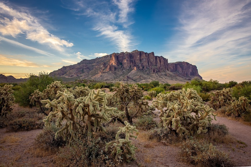 Sunrise at Superstition Mountains