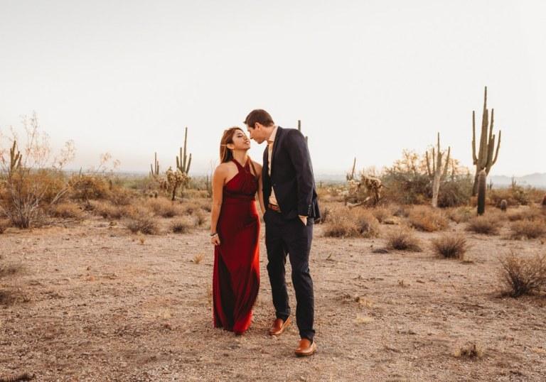 Sunset Engagement Photos in Phoenix