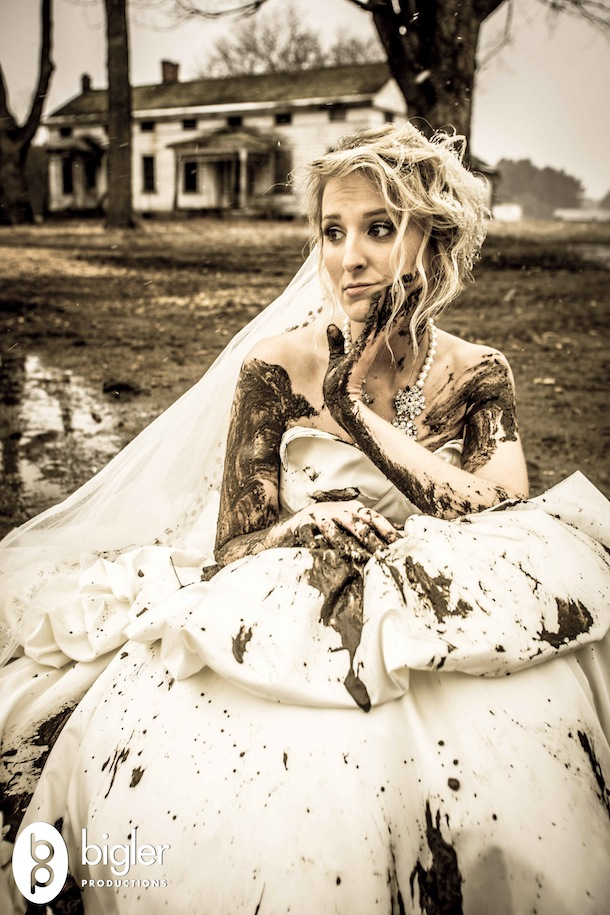 Image result for dirty  wedding dress