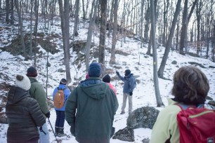 Old quarry. Winter Solstice 2016 Hike by the Morris County Park Commission