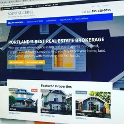 real estate website content layout