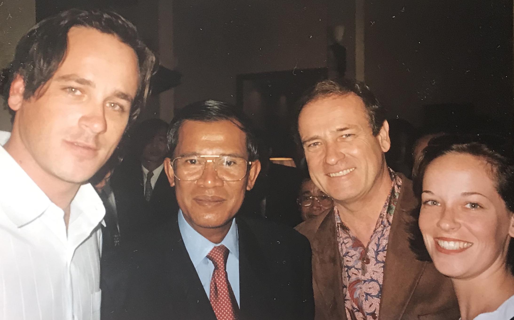 David' son, President of Cambodia Hun Sen,DAC and daughter Maureen