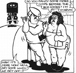 [Picture of Fat Slags comic by Viz]