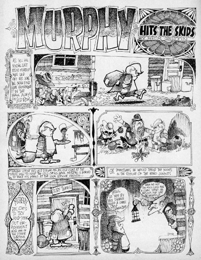 [Picture of Rick Griffin's Murphy Comic]