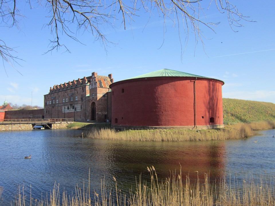 View of Malmö Castle across it'd moat