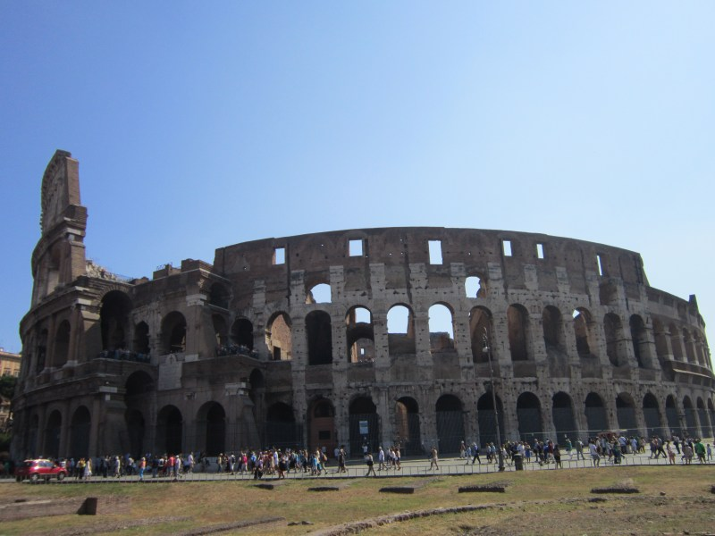 things to do in Rome - view of The Colosseum