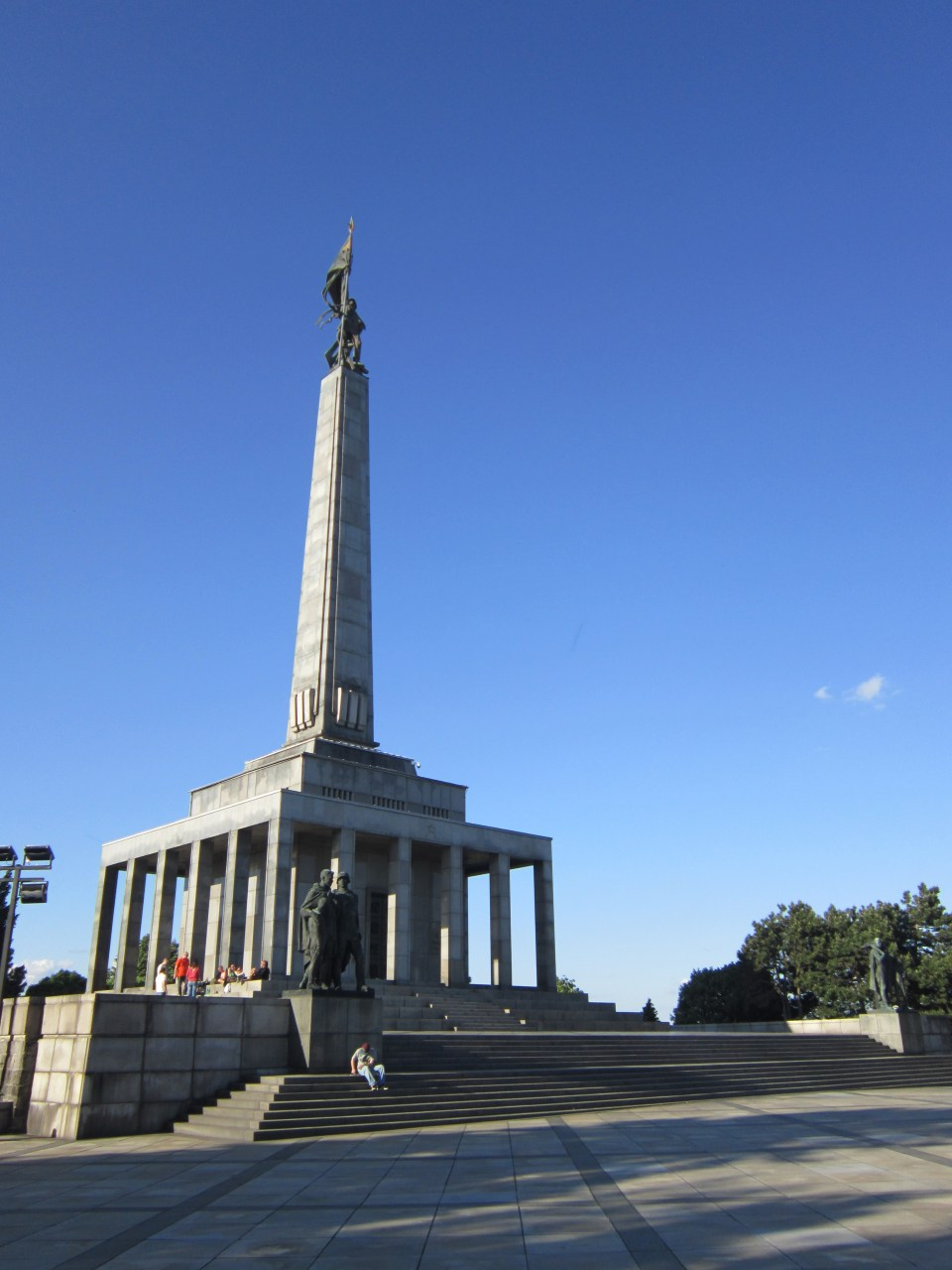 Bratislava view of the main pillar at the Slavín war memorial