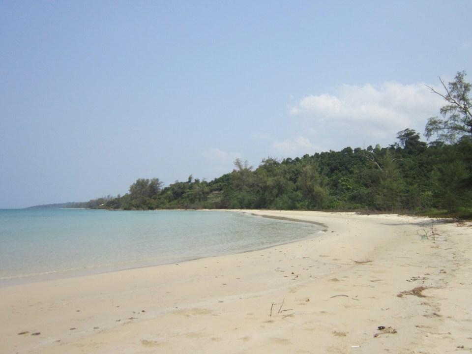 Empty beach on Koh Kong island, Cambodia