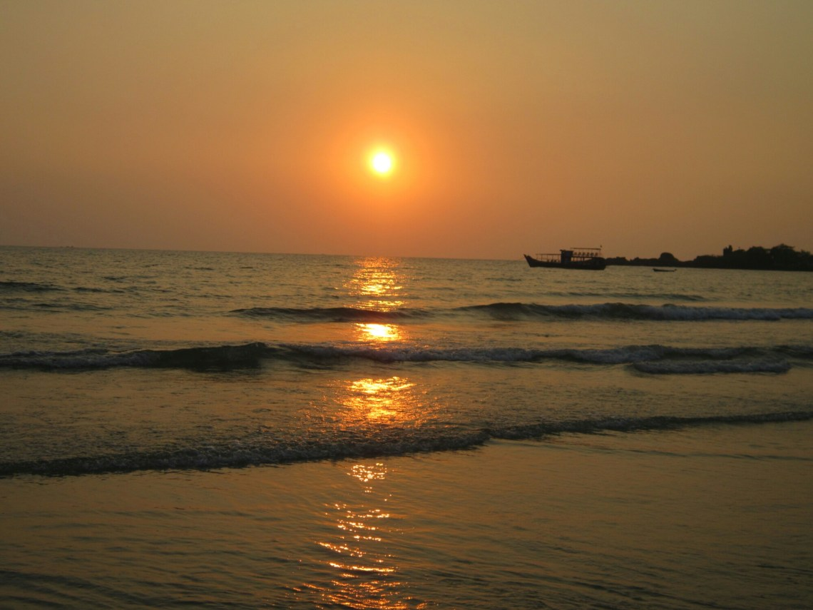 Sunset on Koh Chang, over the water, east Thailand