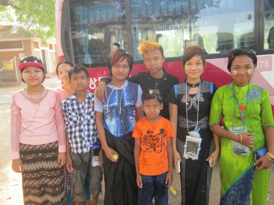 Pilgrims in Bagan
