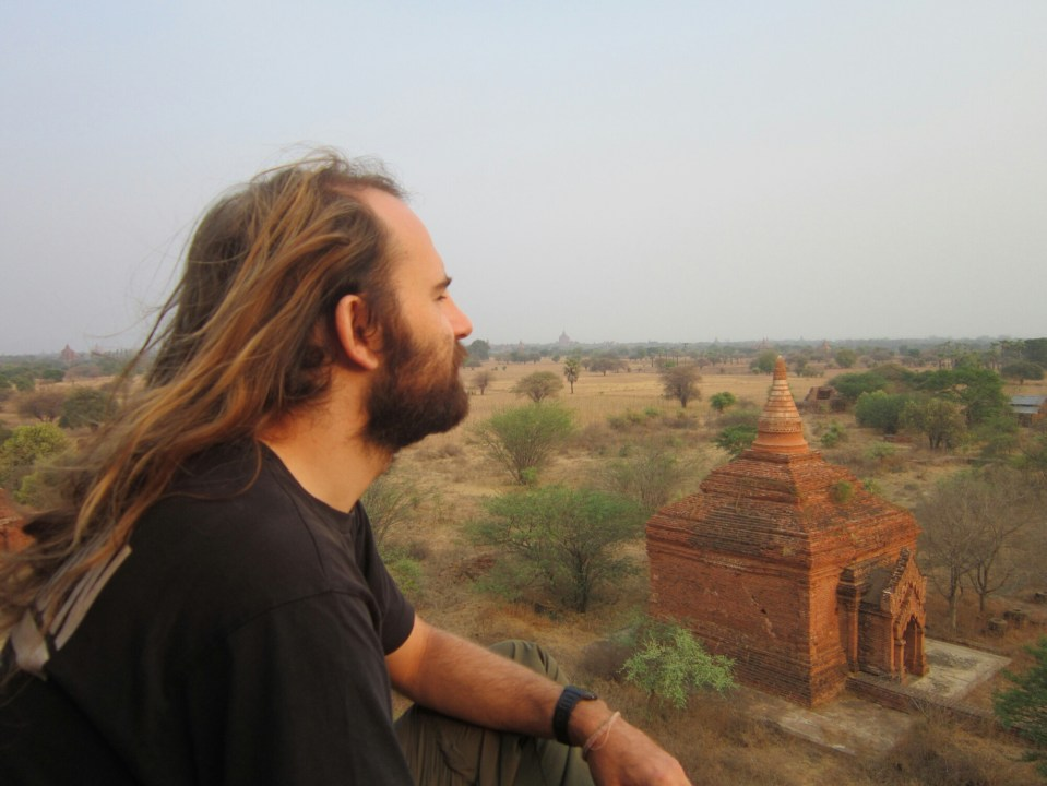 Me looking out at the Temples of Bagan